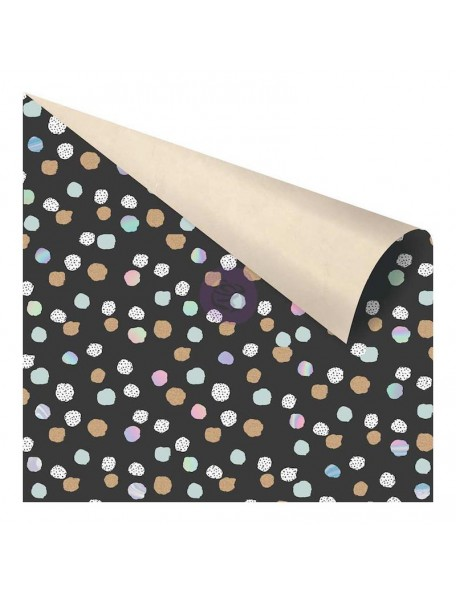 "Prima Marketing Zella Teal Cardstock de doble cara 12""X12"", Offset Dot"