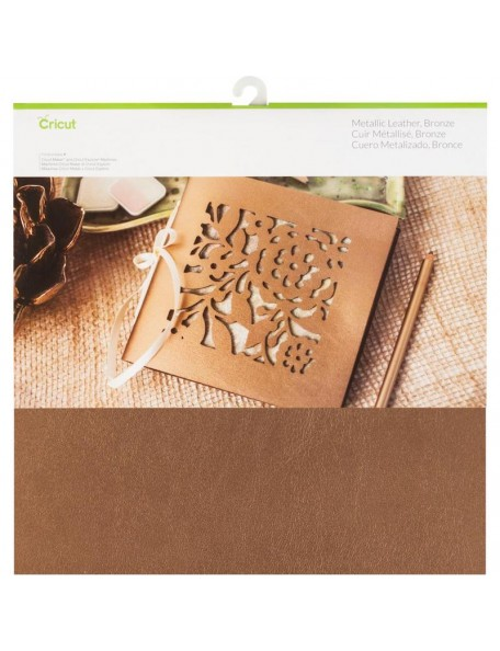 "Cricut Maker Cuero Metalico 12""X12"", Bronze"