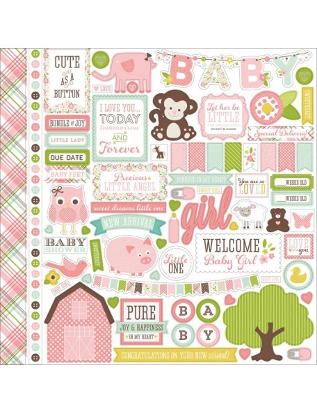 Echo Park Pegatinas de la Colección Bundle of Joy Cardstock Stickers