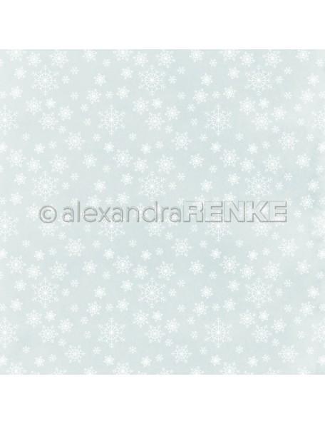 Alexandra Renke Cardstock de una cara 30,5x30,5 cm, Copitos de Nieve/Eiskristalle