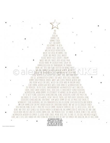 Alexandra Renke Cardstock de una cara 30,5 x 30,5 cm, Arbol de Navidad/Weihnachsbaum