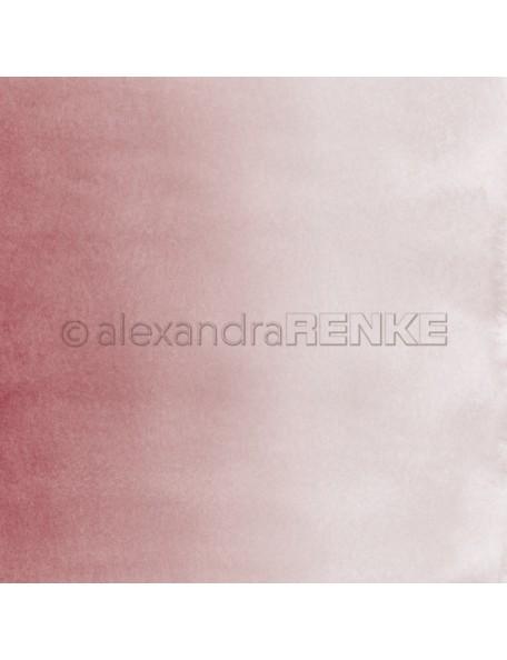 Alexandra Renke Cardstock de una cara 30,5 x 30,5 cm, Acuarela Viejo Rosa/Mimiverlauf Aquarell Altrosa