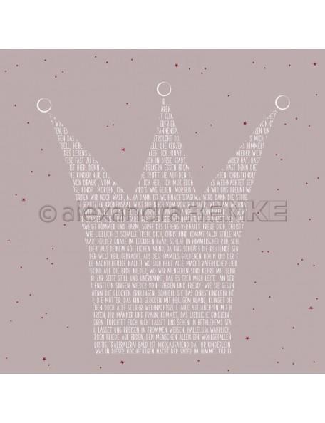 Alexandra Renke Cardstock de una cara 30,5 x 30,5 cm, Corona de Letras/Typokrone