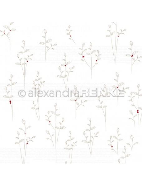 Alexandra Renke Cardstock de una cara 30,5 x 30,5 cm, Strich-Ilex gold
