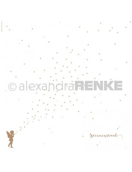 Alexandra Renke Cardstock de una cara 30,5x30,5 cm, Polvo dorado/Sternenstaub gold