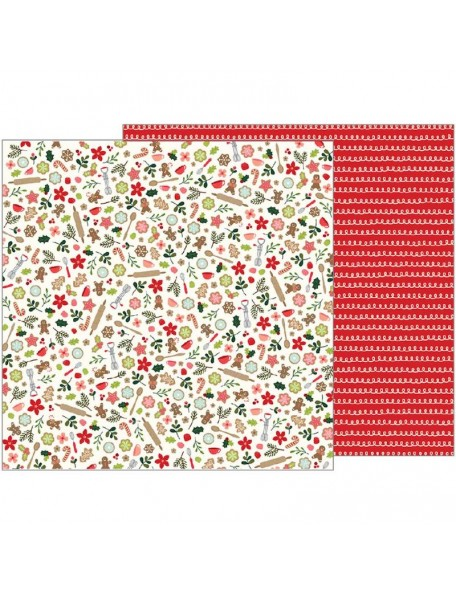 "Pebbles Merry Merry Cardstock de doble cara 12""X12""-Baking Delights"