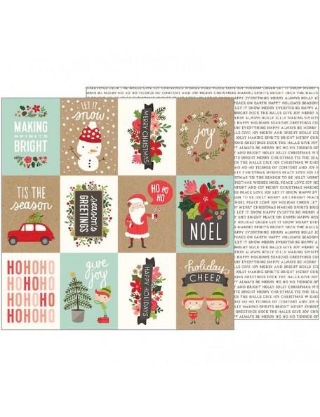 "Pebbles Merry Merry Cardstock de doble cara 12""X12"", Ho Ho Ho"
