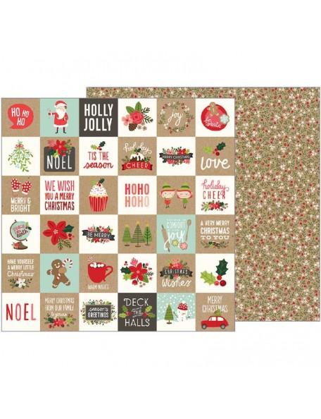 "Pebbles Merry Merry Cardstock de doble cara 12""X12"", Merry Merry"