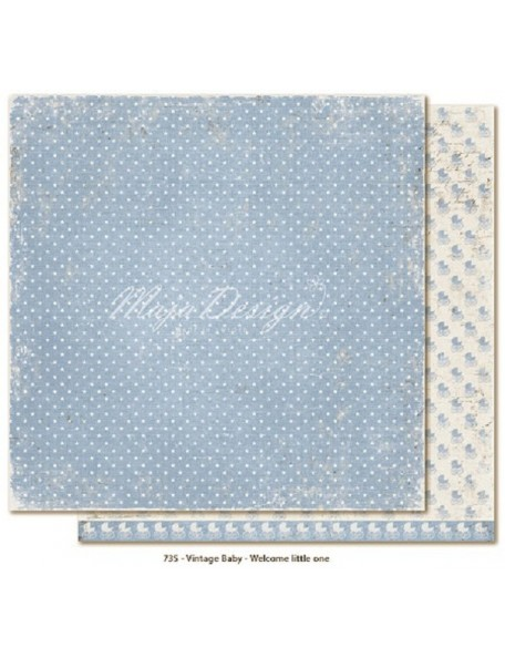 "Maja Design Vintage Baby Cardstock de doble cara 12""x12"" Welcome Little one DESCATALOGADO"