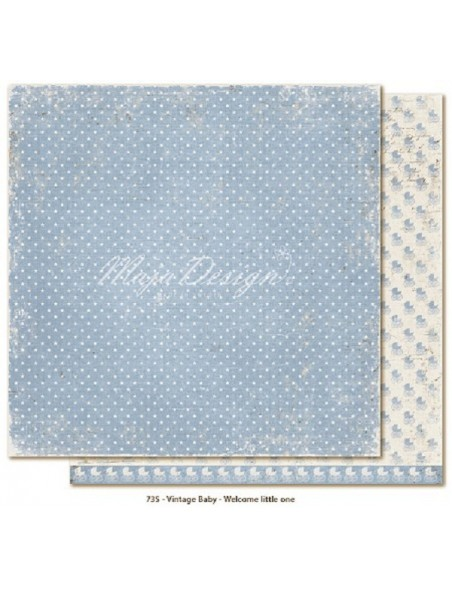 "Maja Design Vintage Baby Cardstock de doble cara 12""x12"" Welcome Little one"
