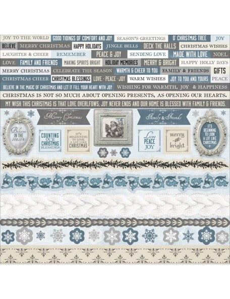 """Kaisercraft Frosted Cardstock Stickers 12""""X12"""""""