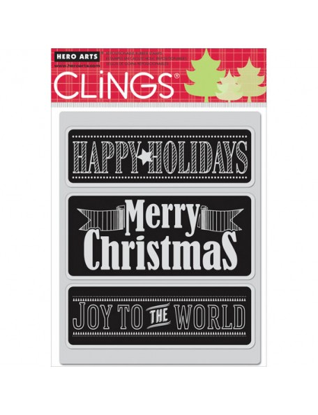 """Hero Arts Cling Stamps 4.5""""X5.75"""", Chalkboard Messages"""