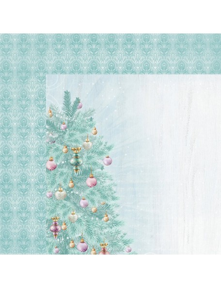 "Kaisercraft Christmas Wishes Cardstock de doble cara 12""X12"", Fir Tree"