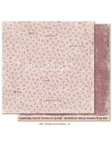 "Maja Design Vintage Autumn Basics, Cardstock de doble cara 12""x12"", no.III"