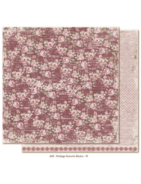 """Maja Design Vintage Autumn Basics Cardstock de doble cara 12""""x12"""", no.VI DESCATALOGADO"""
