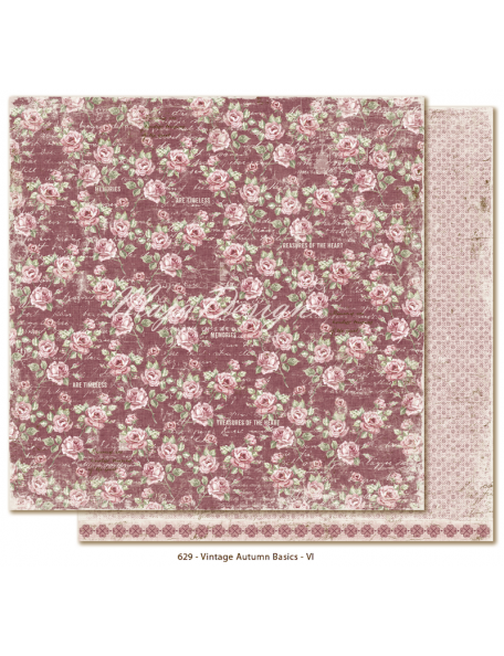 "Maja Design Vintage Autumn Basics Cardstock de doble cara 12""x12"", no.VI"