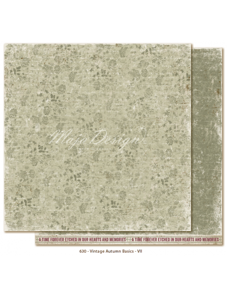 "Maja Design Vintage Autumn Basics no.VII, Cardstock de doble cara 12""x12"""