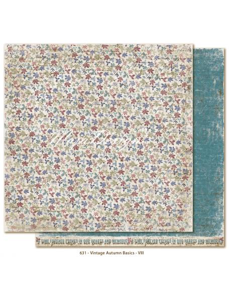 "Maja Design Vintage Autumn Basics Cardstock de doble cara 12""x12"", no.VIII"