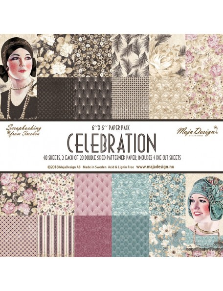 "Maja Design Celebration Paper Pack 6""x6"""