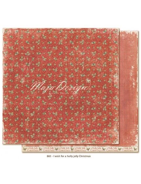 "Maja Design I Wish Cardstocks de doble cara 12""x12"", For a Holly Jolly Christmas"