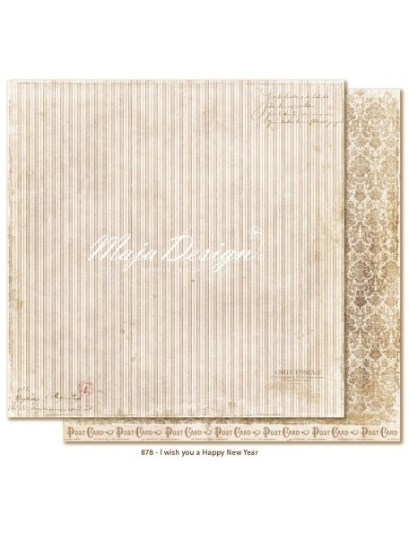 "Maja Design I Wish Cardstock de doble cara 12""x12"", you a Happy New Year"
