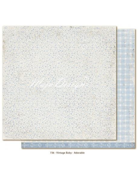"Maja Design Vintage Baby Cardstock de doble cara 12""x12"", Adorable"