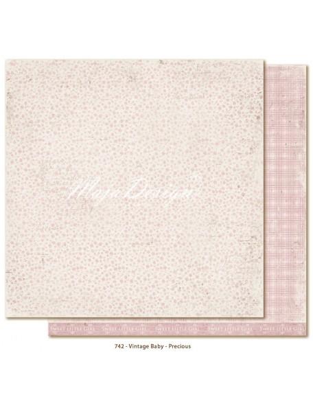 "Maja Design Vintage Baby Cardstock de doble cara 12""x12"", Precious"