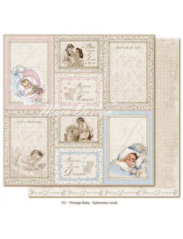 Maja Design Vintage Baby, Ephemera Cards