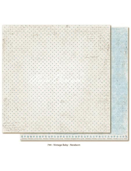 "Maja Design - Vintage Baby Newborn Cardstock de doble cara 12""x12"""