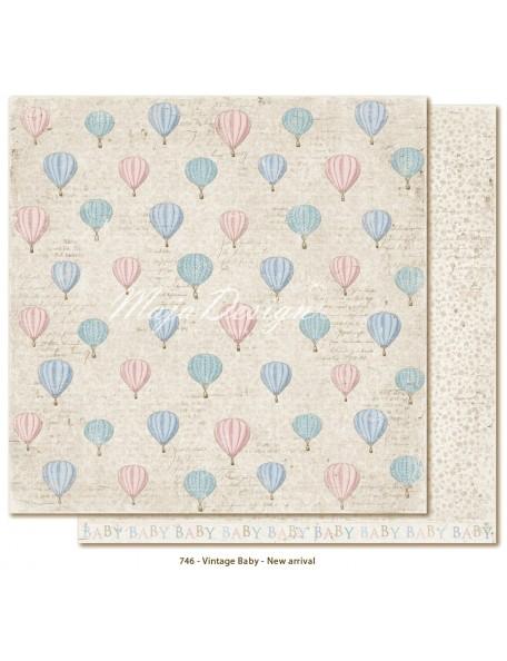 """Maja Design Vintage Baby Cardstock de doble cara 12""""x12"""", New Arrival"""