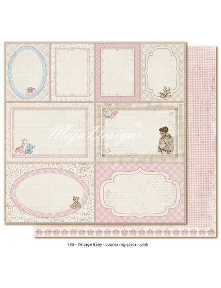 Maja Design Vintage Baby, Journaling Cards Pink