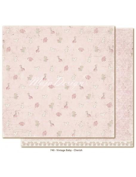 """Maja Design Vintage Baby Cardstock de doble cara 12""""x12"""", Cherish"""