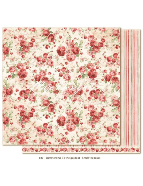 "Maja Design Summertime In the Garden Cardstock de doble cara 12""x12"", Smell the roses"