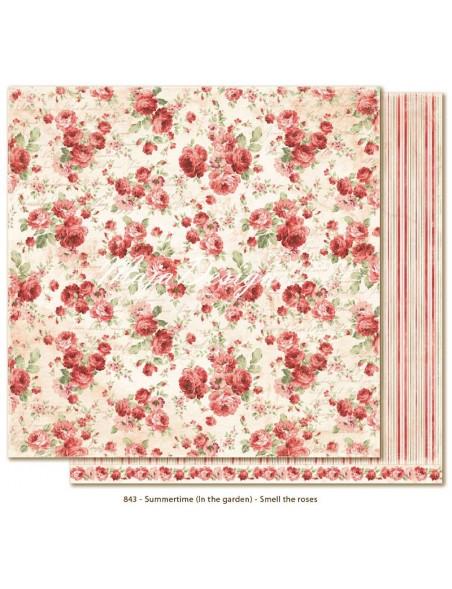 """Maja Design Summertime In the Garden Cardstock de doble cara 12""""x12"""", Smell the roses"""