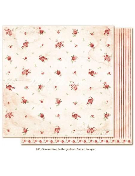 """Maja Design Summertime in th Garden Cardstock de doble cara 12""""x12"""", Garden Bouquet"""