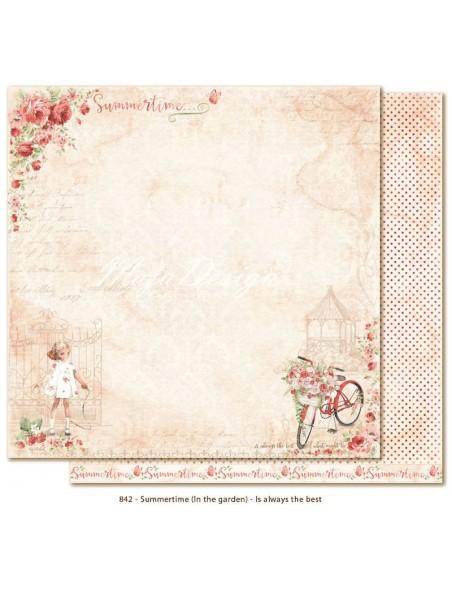 """Maja Design SummertIme in the Garden Cardstock de doble cara 12""""x12"""", Is always the best"""