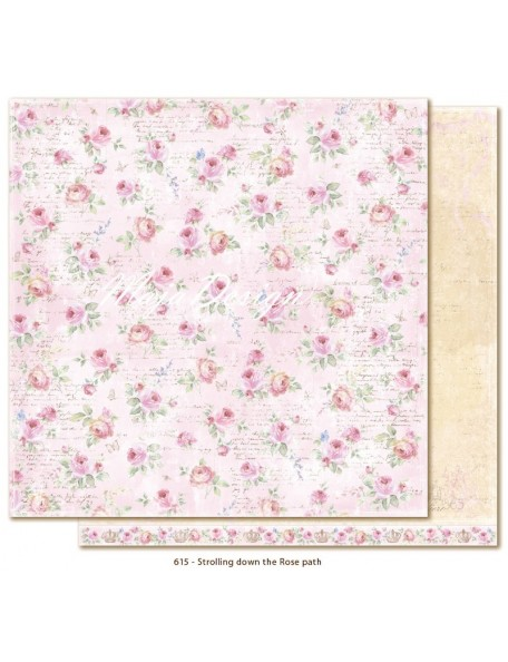 "Maja Design - Sofiero Strolling down the Rose Path Cardstock de doble cara 12""X12"""