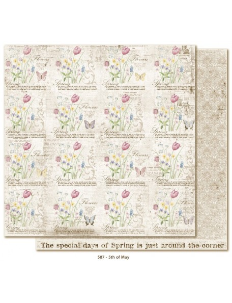 "Maja Design - Vintage Spring Basics Cardstock de doble cara 12""x12"", 5th of May"
