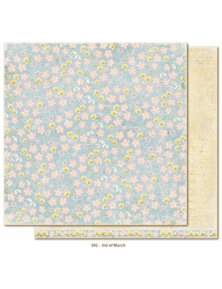 "Maja Design - Vintage Spring Basics Cardstock de doble cara 12""x12"", 3rd of March"