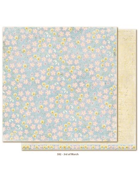"Maja Design - Vintage Spring Basics Cardstock de doble cara 12""x12"", 3rd of March"