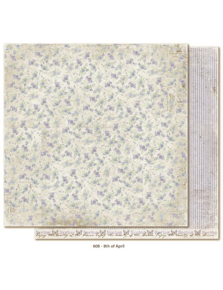 "Maja Design Vintage Spring Basics Cardstock de doble cara 12""x12"", 8th of April"