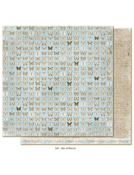 "Maja Design - Vintage Spring Basics Cardstock de doble cara 12""x12"", 8th of March"