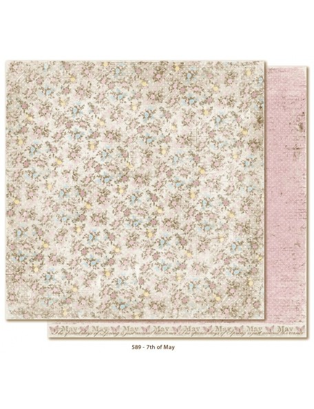 "Maja Design Vintage Spring Basics Cardstock de doble cara 12""x12"", 7th of May"
