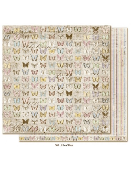 "Maja Design Vintage Spring Basics Cardstock de doble cara 12""x12"", 6th of May"
