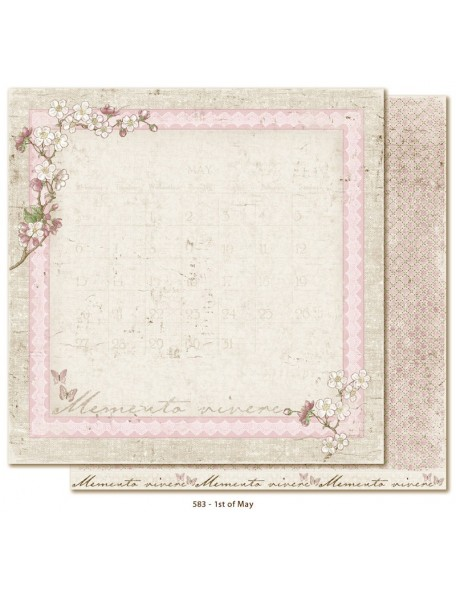 "Maja Design - Vintage Spring Basics Cardstock de doble cara 12""x12"", 1st of May"