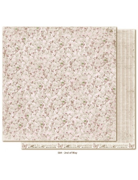 "Maja Design - Vintage Spring Basics Cardstock de doble cara 12""x12"", 2nd of May"