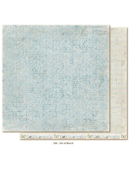 "Maja Design - Vintage Spring Basics Cardstock de doble cara 12""x12"", 5th of March"