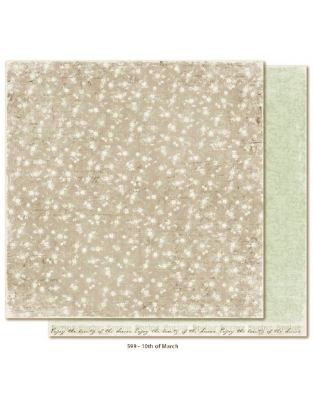 "Maja Design - Vintage Spring Basics Cardstock de doble cara 12""x12"", 10th of March"