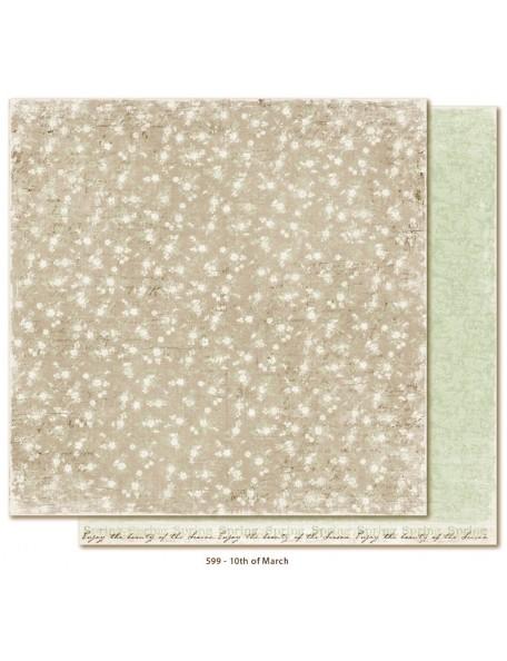 "Maja Design Vintage Spring Basics Cardstock de doble cara 12""x12"", 10th of March"