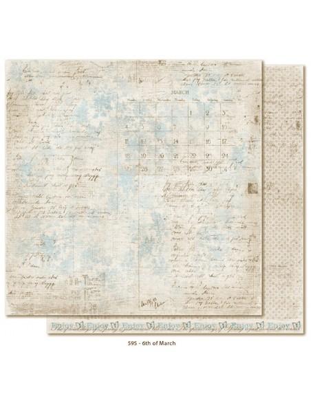 "Maja Design - Vintage Spring Basics Cardstock de doble cara 12""x12"", 6th of March"